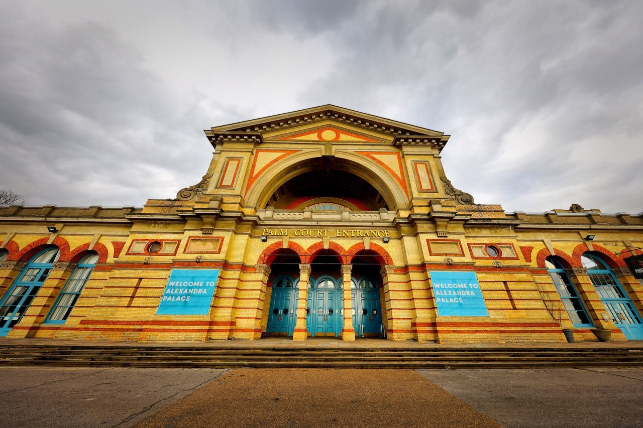 Alexandra Palace Restoration Architecture Building Exterior Built Structure Sky Outdoors Cloud - Sky No People Façade Arch Low Angle View Day