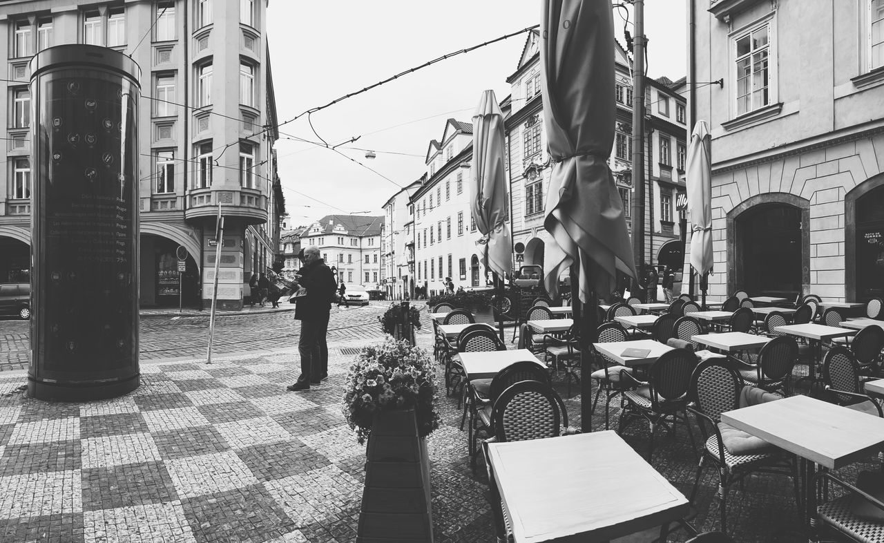 Prague Czech Republic Travelling Street Life Travel Photography Black And White Photography Black And White Streetphoto_bw Streetphotography Czech Republic Outdoor Restaurant Outdoor Life Tourism
