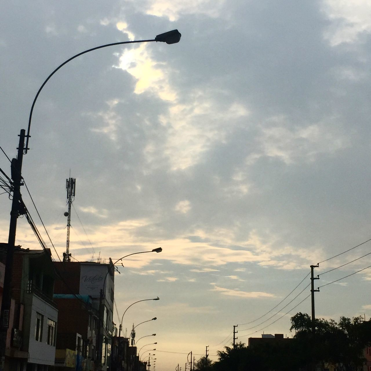 Sky Cloud - Sky Built Structure Street Light No People Sunset Transportation Architecture Outdoors City Building Exterior Nature Day