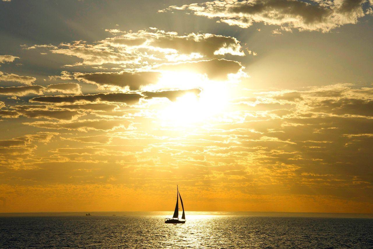 Perth Sunset Sea Nature Sailing Travel Destinations Australia Perth Western Australia
