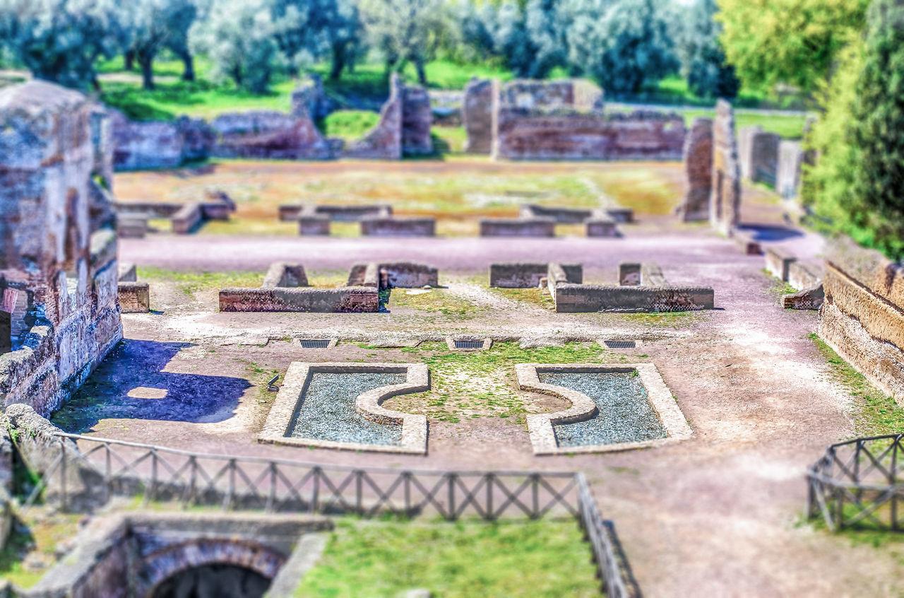 Ruins at Villa Adriana Tivoli, Italy. Tilt-shift effect applied Close-up Day No People Outdoors