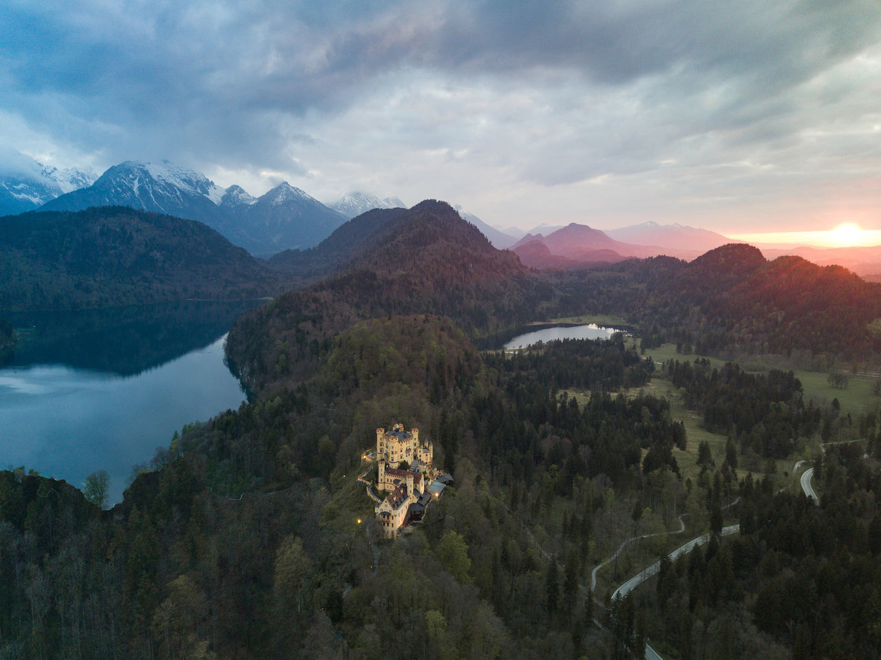 Warm vs.Cold Beauty In Nature Cold Temperature Day DJI Mavic Pro Dronephotography Landscape Mountain Mountain Range Nature No People Outdoors Scenics Sky Sunset Tranquil Scene Tranquility Travel Destinations Warm Colors
