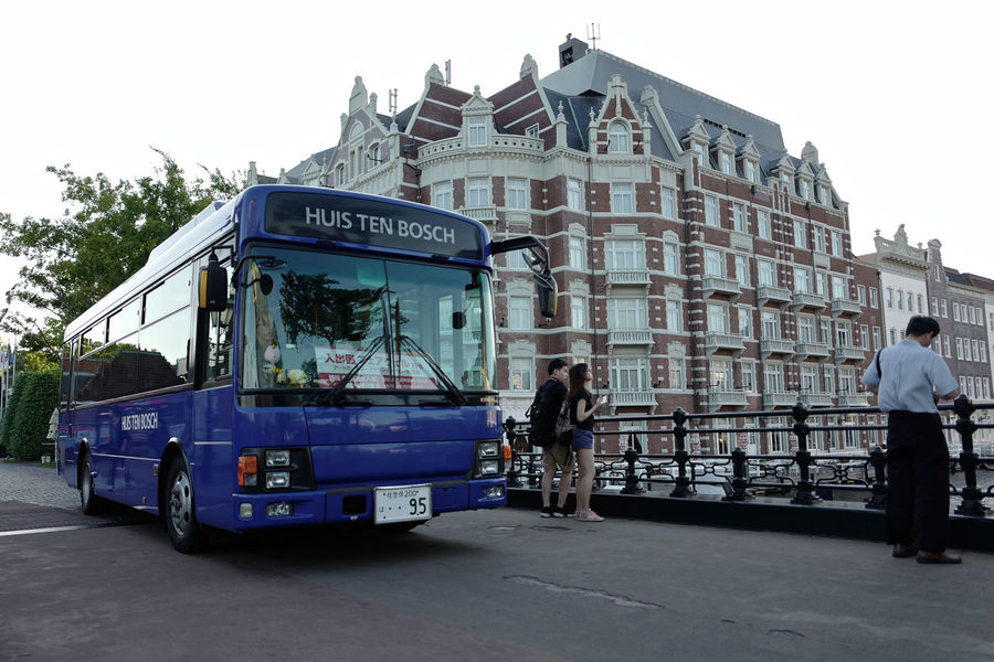 Architecture European  Hotel Europa Huis Ten Bosch The Way Forward On The Bridge Traffic On The Streets Building Exterior Land Vehicle Mode Of Transport Real People Street Photography Transportation ハウステンボス Nagasaki / LEICA Q Typ116 28mm F/1.7 Low Position September 2017