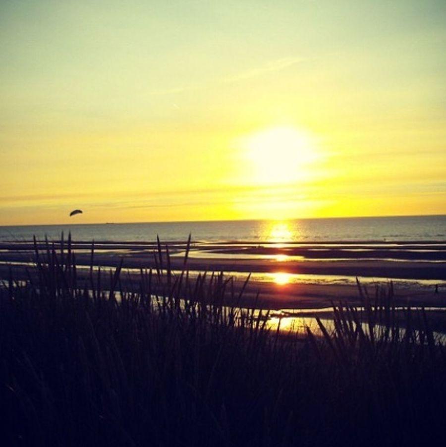 Sunset Silhouettes Belgium Koksijde Sea And Sky ❤️ ?