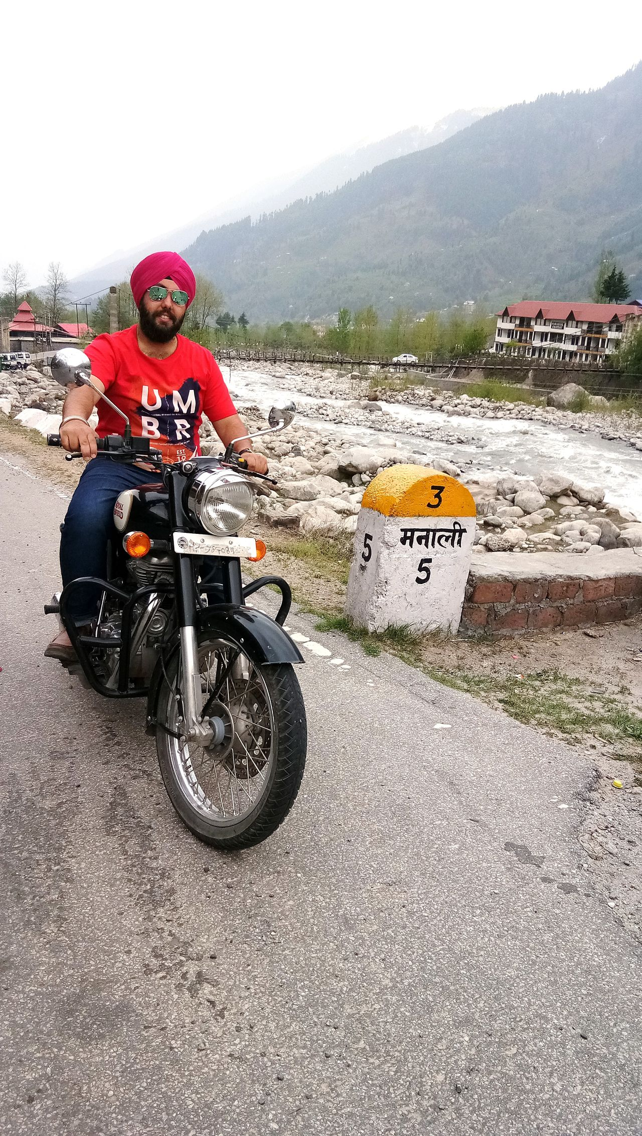 EyeEmNewHere Himachaldiaries HoneymoonDestinations Bulletride Adventure Mountains And Valleys Empty Streets Longrideswithher Singh Sardari Turbanandbeard
