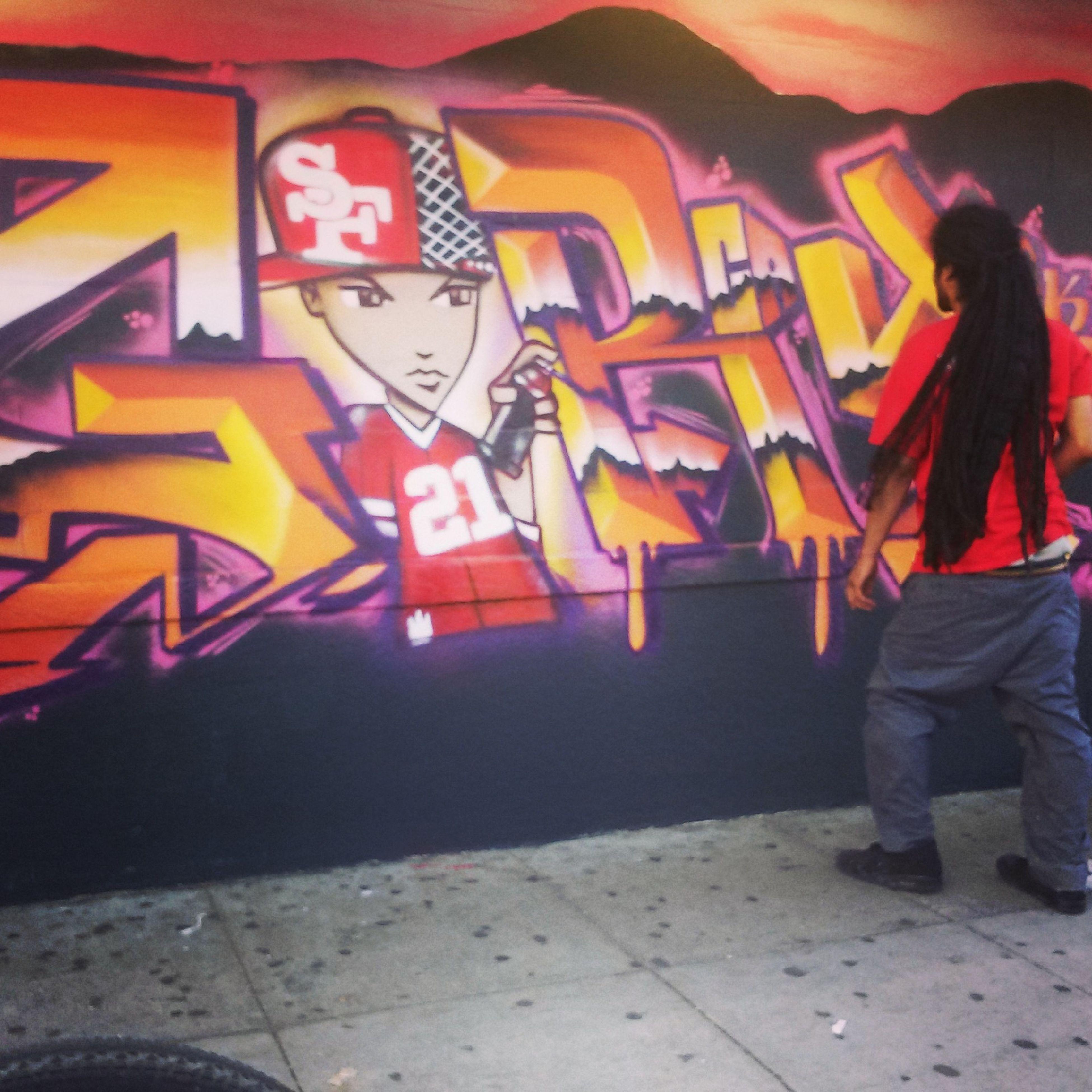Beautiful Art work done in San Francisco. San Bruno. artist in Action. undone. Taking Photos Enjoying Life