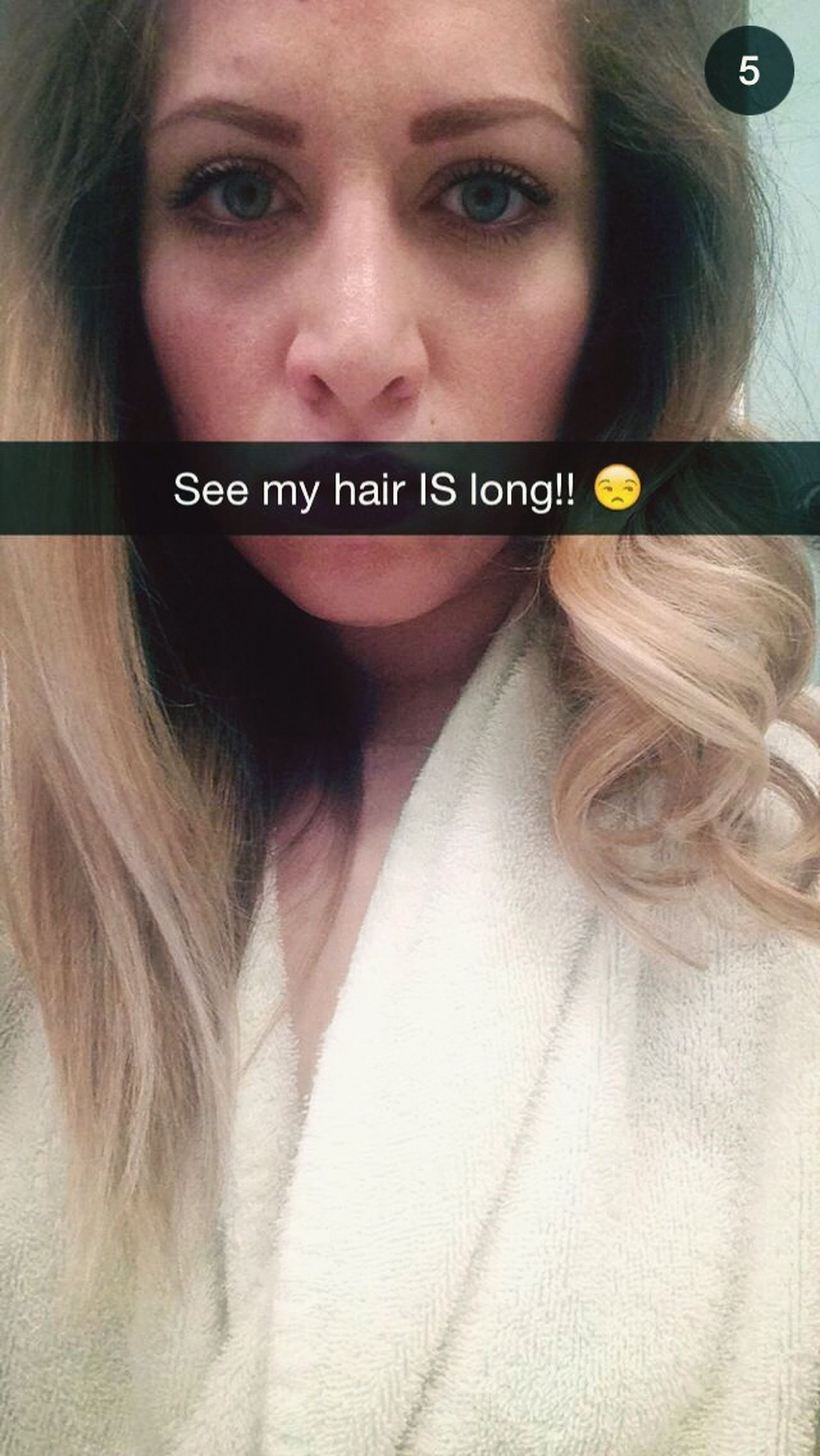 Long Hair, Don't Care. Snap Chat Blondie Bomb Shell