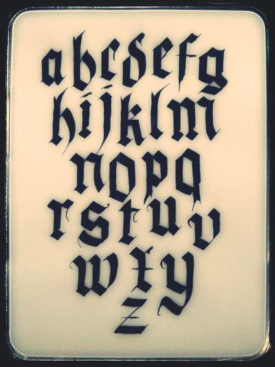 ABC Calligraphy Kalligraphie Kruse Text Alphabet Black Color Information Medium Close-up No People Ink Orthographic Symbol Day Typography Frakturschrift Fraktura Textura Let's Go. Together.