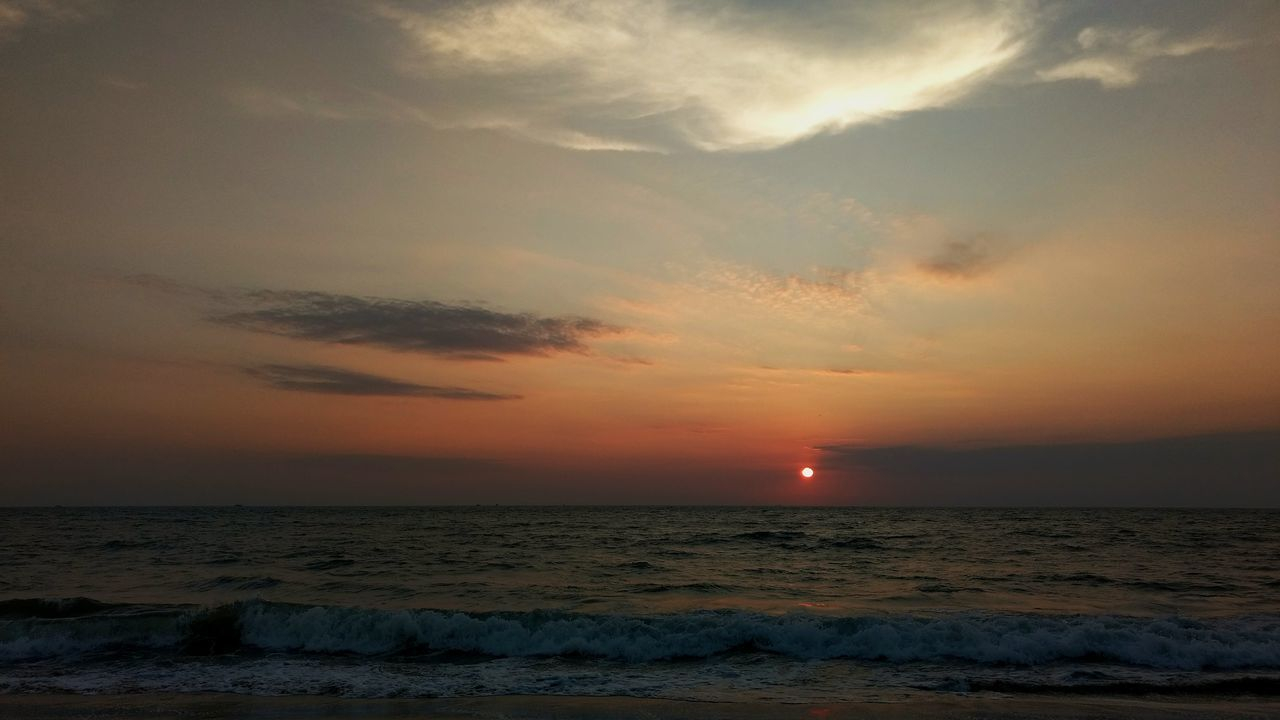 Sunset Sea Horizon Over Water Beach Landscape Cloud - Sky Atmospheric Mood Beauty In Nature Travel Destinations Beauty Dramatic Sky Peace ✌ Goodvibes✌️ Lifeofnature Visualsofearth