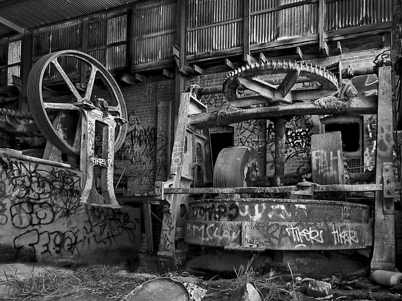 An abandoned brickworks machinery Abandoned Brick Work Color Gear Machinery Old Relaxing Ruin Rusty