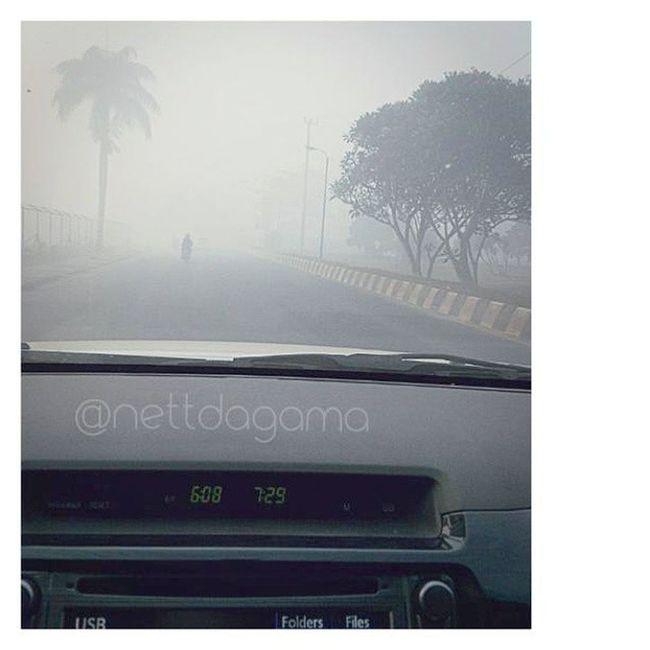 Landasan Ulin, kabut asap bikin nyesek -_- Instalike Instabanjar Instadaily Morning smog