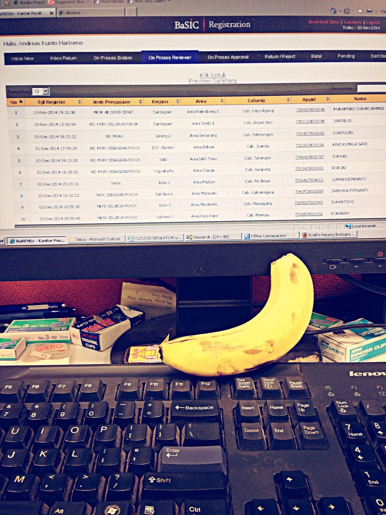 Banana On my computer ???? First Eyeem Photo