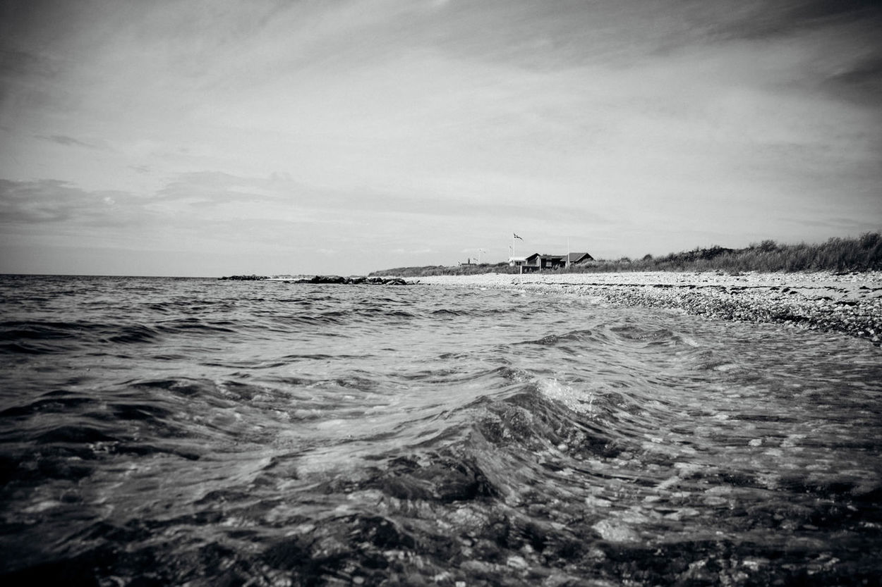 Beauty In Nature Blackandwhite Calm Rippled Scenics Sea Seascape Shore Tranquil Scene Tranquility Vacations Water Waterfront Wave
