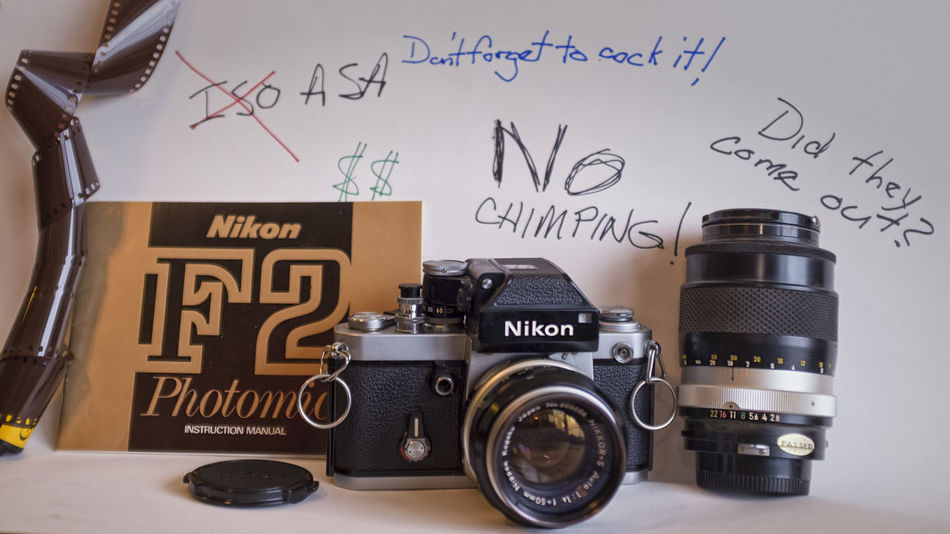 When I Was Young 1973 Analog Antique Camera F2 Film Indoors  Nikon No People Photography Themes Photomic Ftn Still Life Vintage