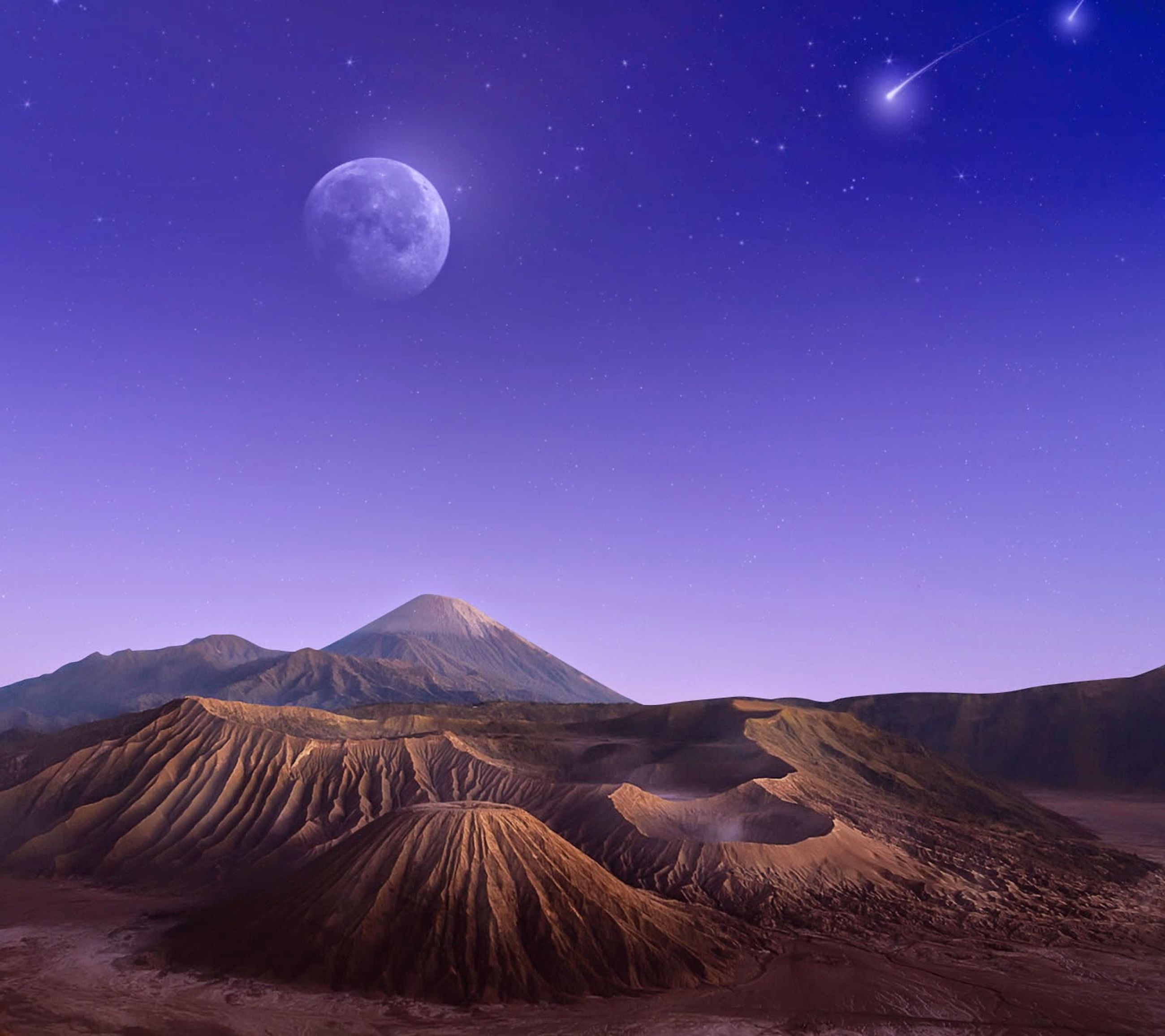astronomy, night, tranquil scene, scenics, tranquility, beauty in nature, star - space, moon, landscape, star field, nature, mountain, space, sky, majestic, idyllic, galaxy, mountain range, blue, star
