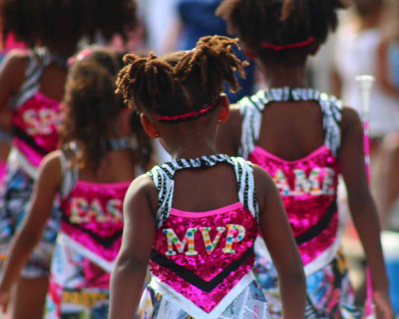 MVP Bermuda Bermuda Day Celebration Childhood Dancers Day Enjoyment Focus On Foreground Friendship Fun Girls Indoors  Leisure Activity Lifestyles Parade Real People Rear View Togetherness Vacations