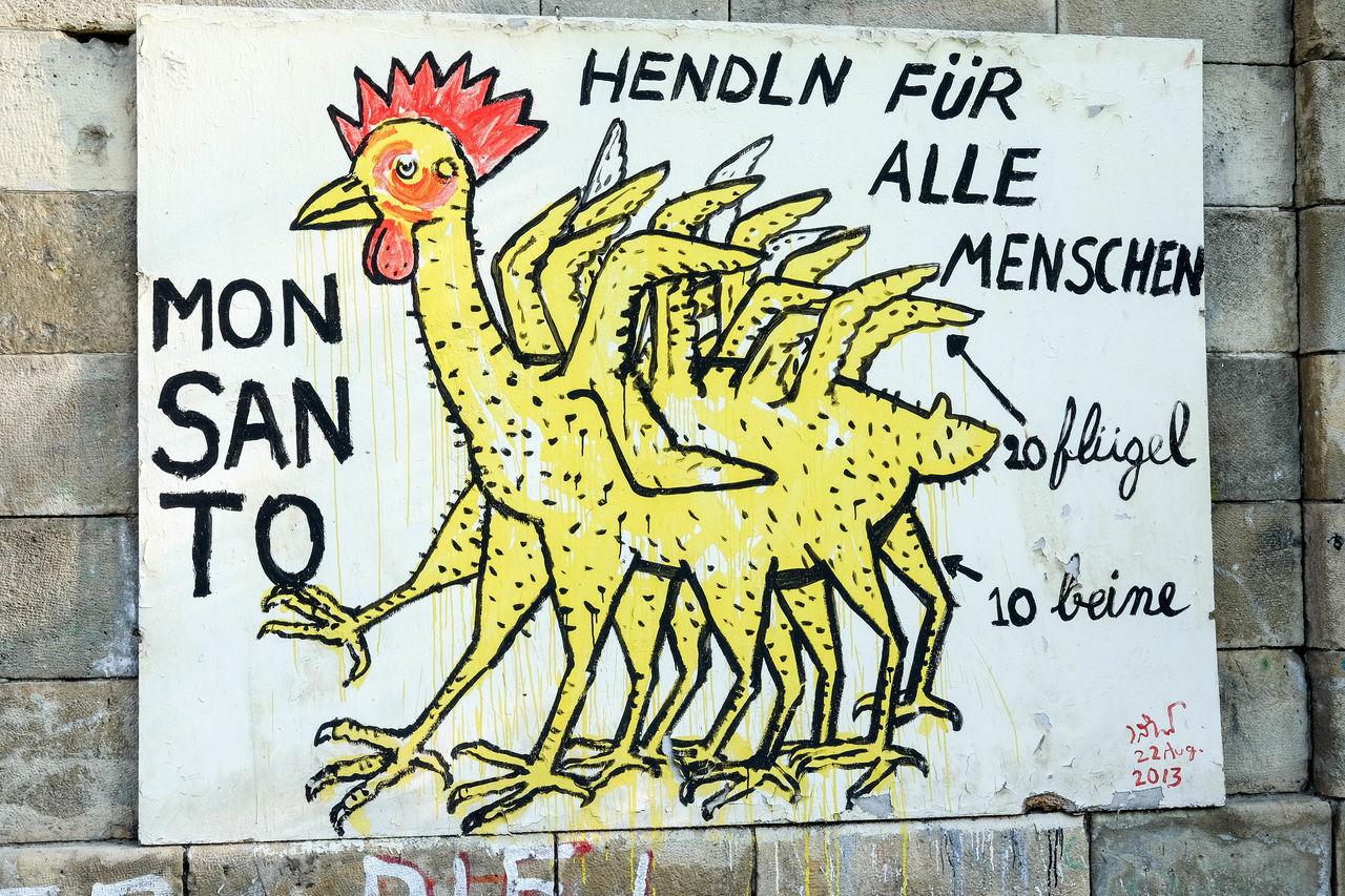 Political artwork Vienna Communication Graffiti Monsanto Outdoors Painted Image Political Street Art Politics Protest Representation Text Urbanphotography Vienna Wall - Building Feature