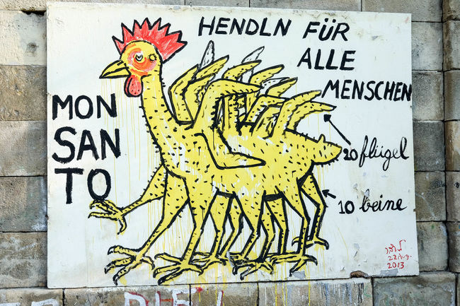 Political artwork Vienna Communication Graffiti Monsanto Outdoors Painted Image Political Street Art Politics Protest Representation Text Urbanphotography Vienna Wall - Building Feature