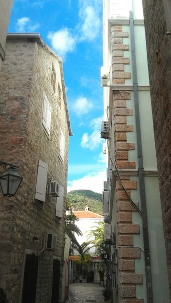 Architecture Sky City Day Clouds Colors Old Buildings Old City Budva Budva, Montenegro Montenegro White Clouds And Blue Sky Sky And Couds Low Angle View Windows Relaxing Blue Sky Like4like Likeforlike