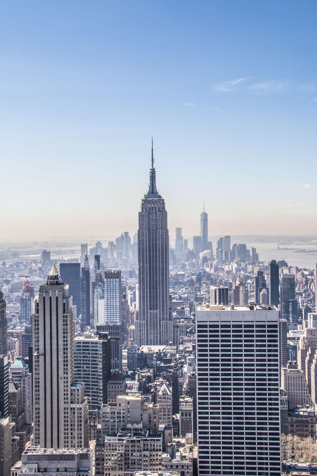 Empire State Building Empirestate Top Of The Rock South Manhattan New York Manhattan