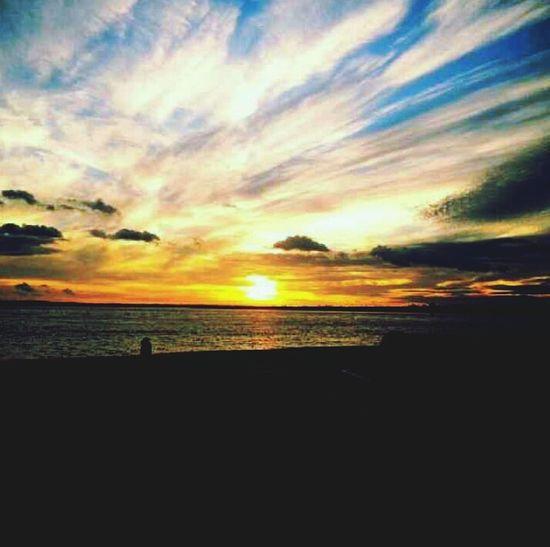 Sea Side Sea And Sky Sunset Light And Shadow