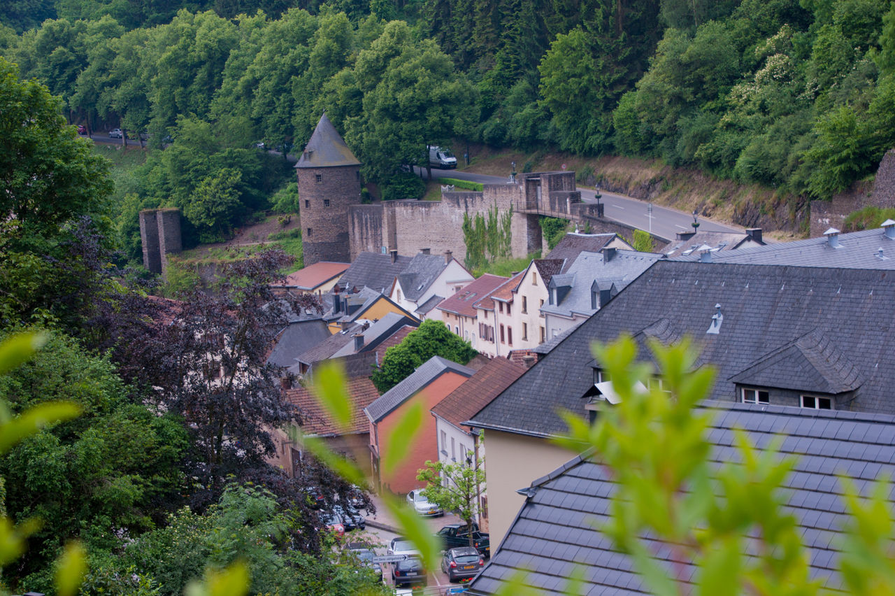 vianden,luxembourg Architecture Beauty In Nature Building Exterior Built Structure Day High Angle View House Nature No People Outdoors Residential Building Rural Scene Tree Village