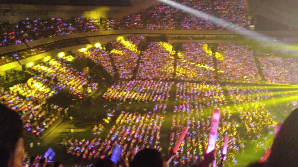 Arena From The Stands Concert Music Multi Colored From My Point Of View Justgoshoot Saitama Illuminated EyeEm Gallery Smartphonephotography Eye4photography  Large Group Of People Stage - Performance Space EyeEm Best Shots Arts Culture And Entertainment The Human Condition Afterlight Gackt Crowd LGV10 My Smartphone Life Performance Enjoyment Stage