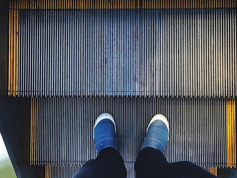 Low Section One Person Shoe Standing Personal Perspective Human Body Part Human Leg Pattern Close-up Indoors  Real People People Adults Only Adult Day One Man Only Buenos Aires, Argentina  Stairs Subway Steps Subway Stairwell Mechanical Stairs Transportation
