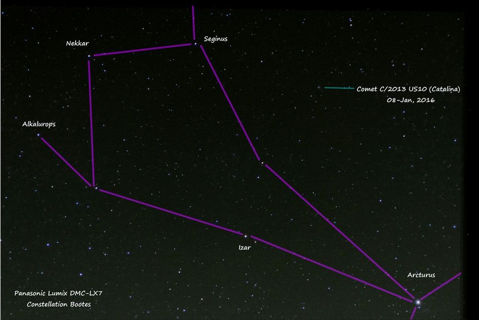 Comet Catalina Astrophotography DMC-LX7
