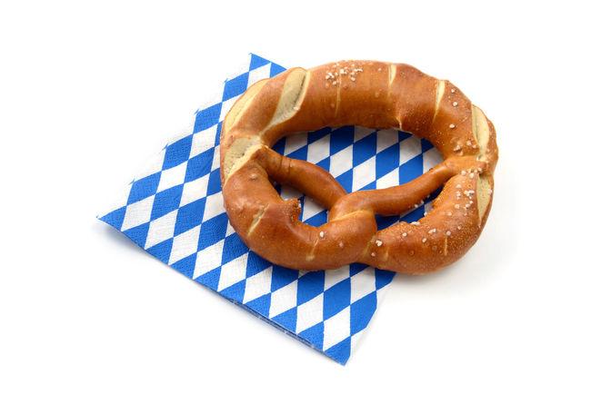 Pretzel on a blue white bavarian napkin. isolated white background. Oktoberfest Raute Oktoberfest Pretzel Pretzels Bretzels Bretzel Oktoberfest Decoration Flags Bavaria Bayern Oktoberfest?! Napkin Napkins Tasty😋 Checkered