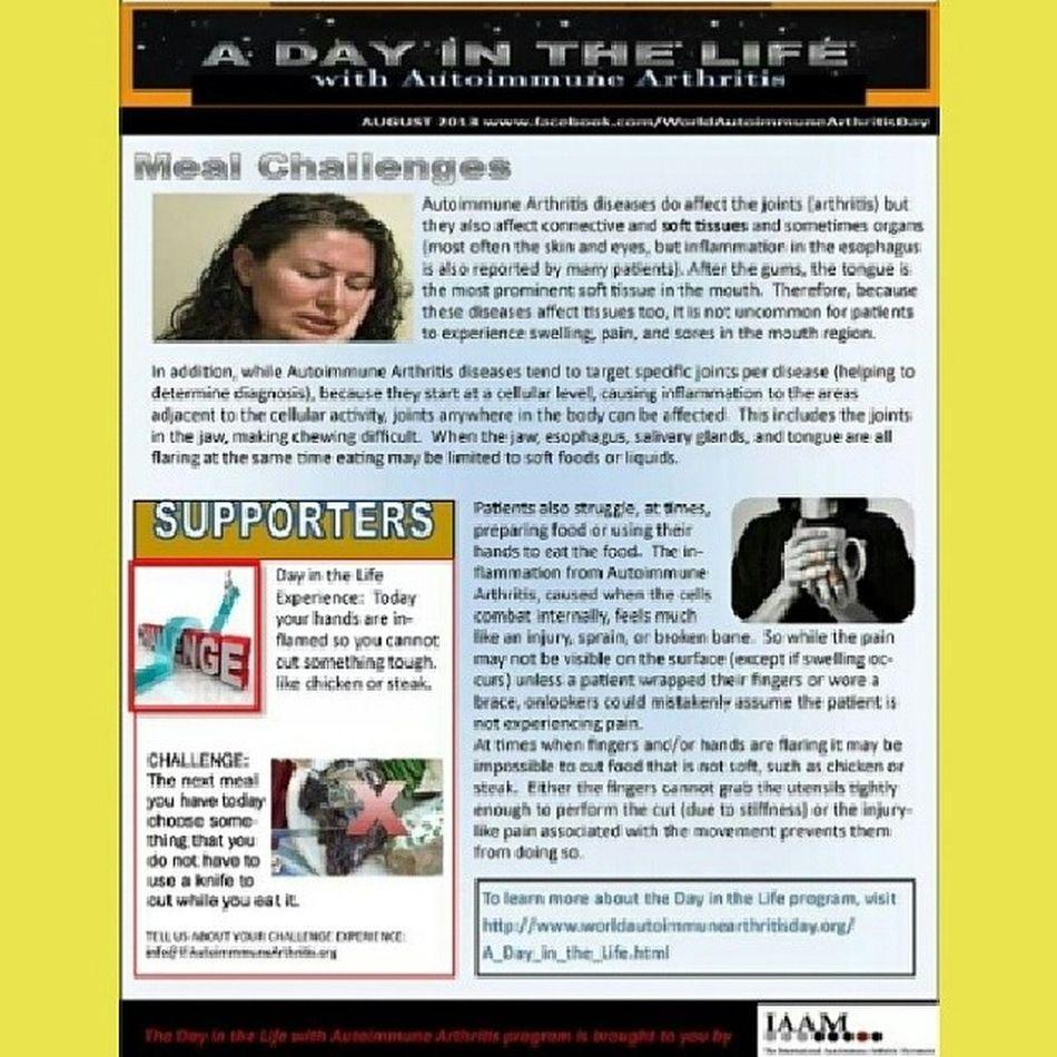Autoimmune Arthritis Awareness UnitedAdvocacy ADayInTheLife Meal Challenges