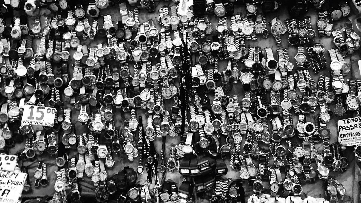 Watch paradise in a Street Market in Brazil / Street Vendor of the best Watches ever! / Hidden Gems  Blackandwhite Black And White Monochrome Photography