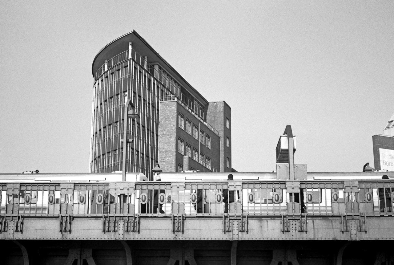 timepaint collection - Hamburg, Baumwall Analogue Photography Architecture Black & White Blackandwhite Building Exterior Built Structure City Clear Sky Day Hamburg Rapid Transit Modern Outdoors Sky Taking Photos Taking Pictures Timepaint72 Tube Tube Station