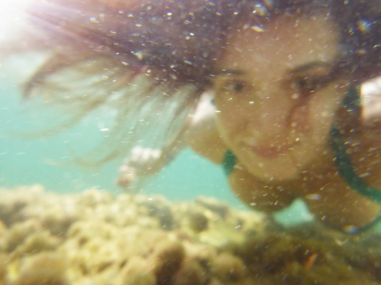 Beauty In Nature Blue Blur Close-up Day Nature Rocks Sea Life Sun Swim Swimming UnderSea Underwater Water Woman