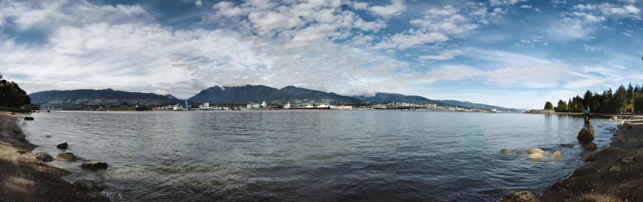 Sea wall pt. 2 Vancouver Sea Wall British Columbia Bc Canada The Sea Boats Docks Rocks Mountains