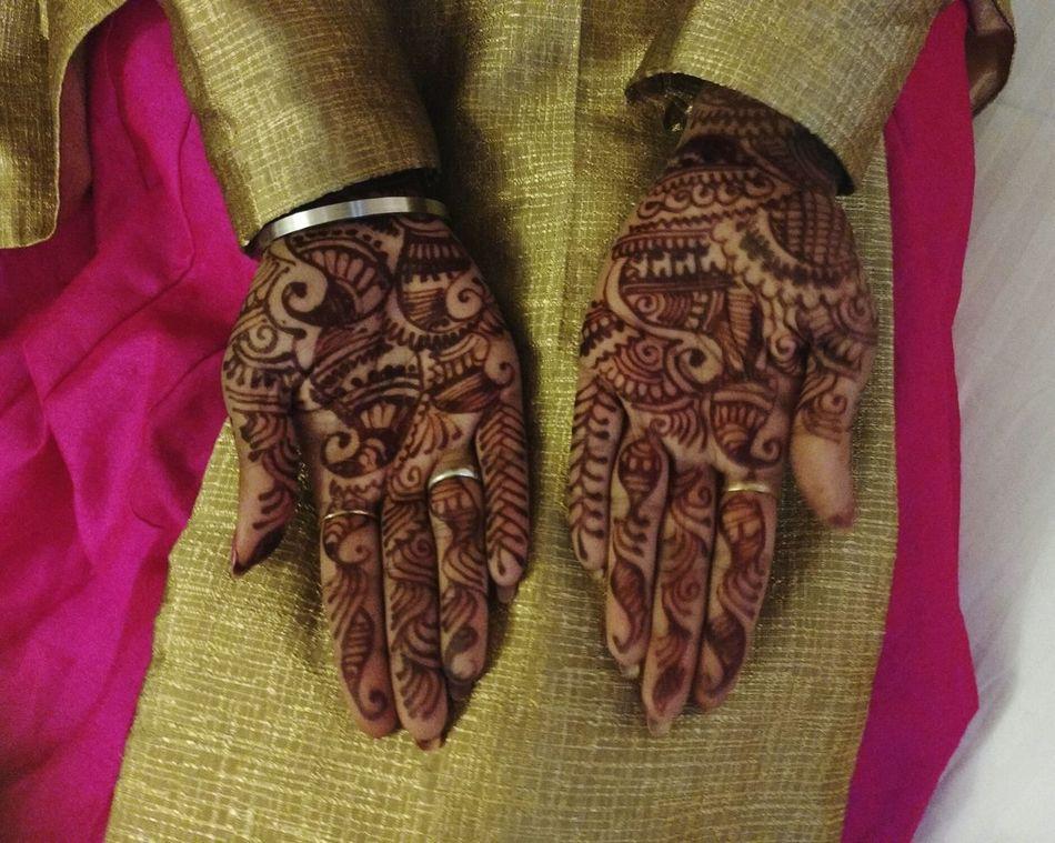 Uniqueness Creativity Hand Pattern Indian Wedding Mehendi Art