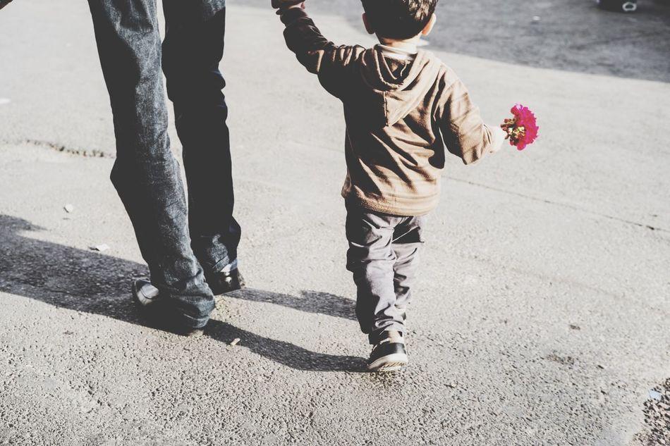 Beautiful stock photos of father, Bonding, Boys, Casual Clothing, Childhood