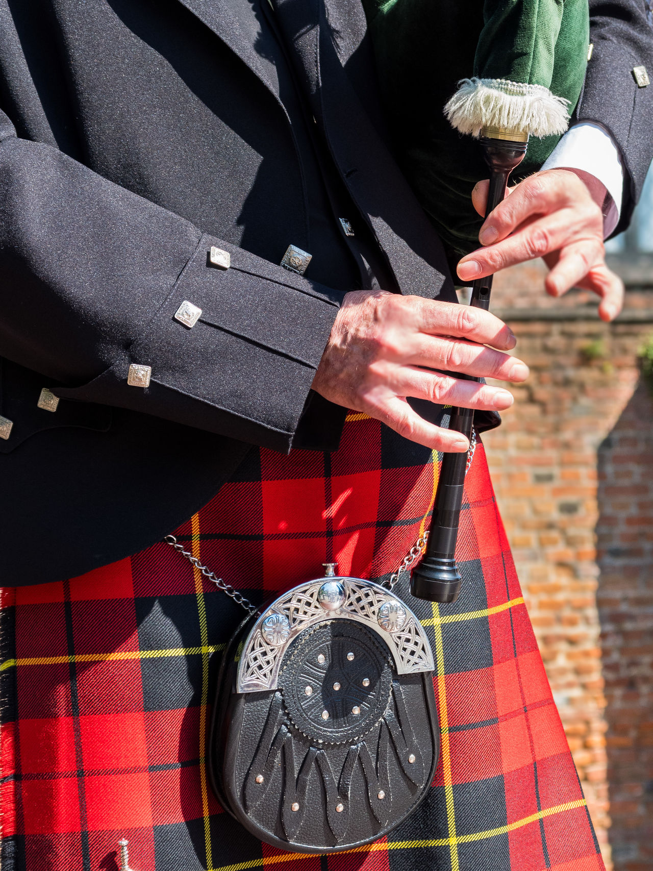 Bagpipes Close-up Day Holding Human Body Part Human Hand Low Section Midsection One Person Outdoors Real People Scotland