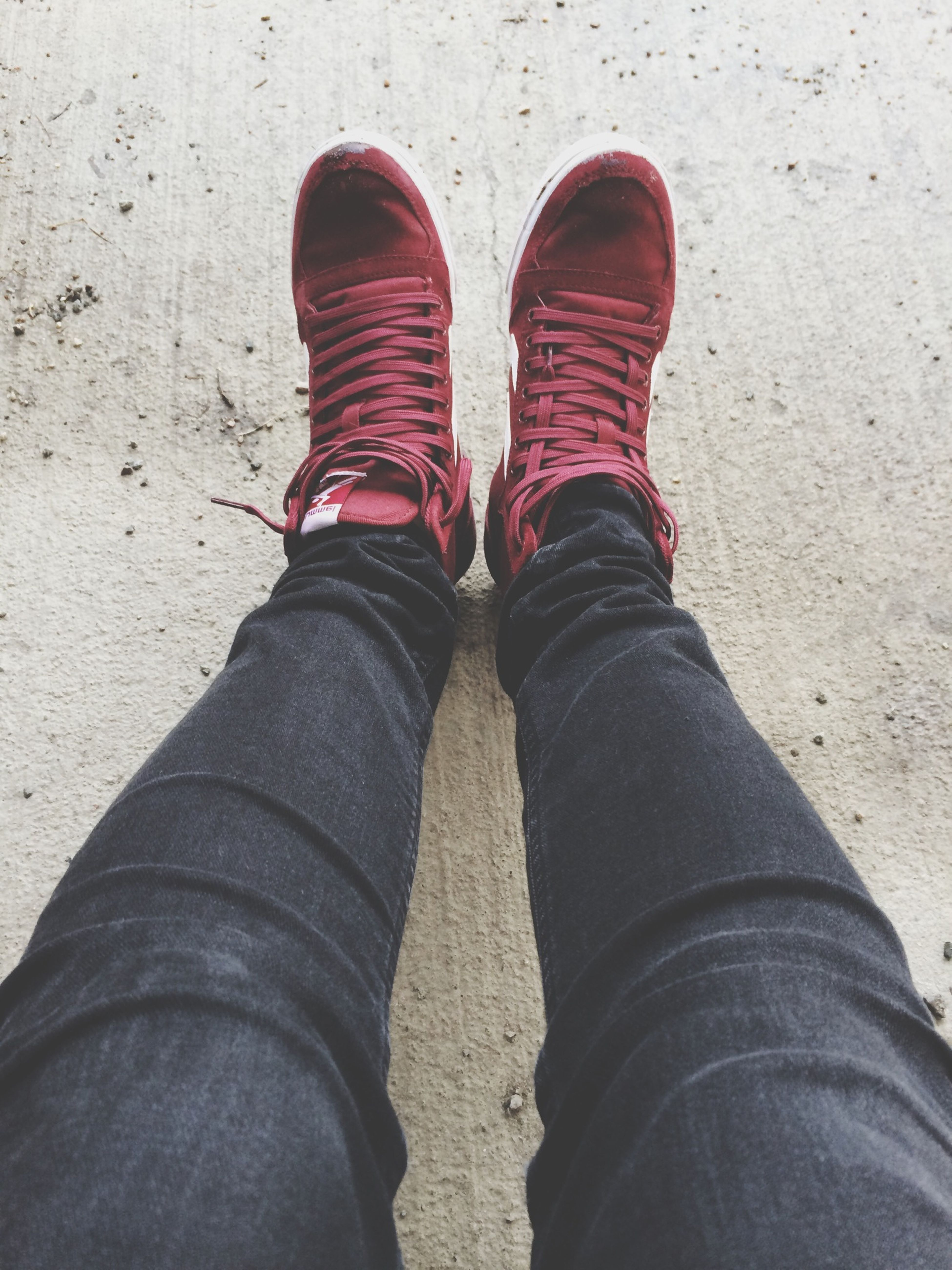 The newest pair, red Hummel. Love them! They're getting a bit dirty because of the weather though.. Shoes Hummel Lovely