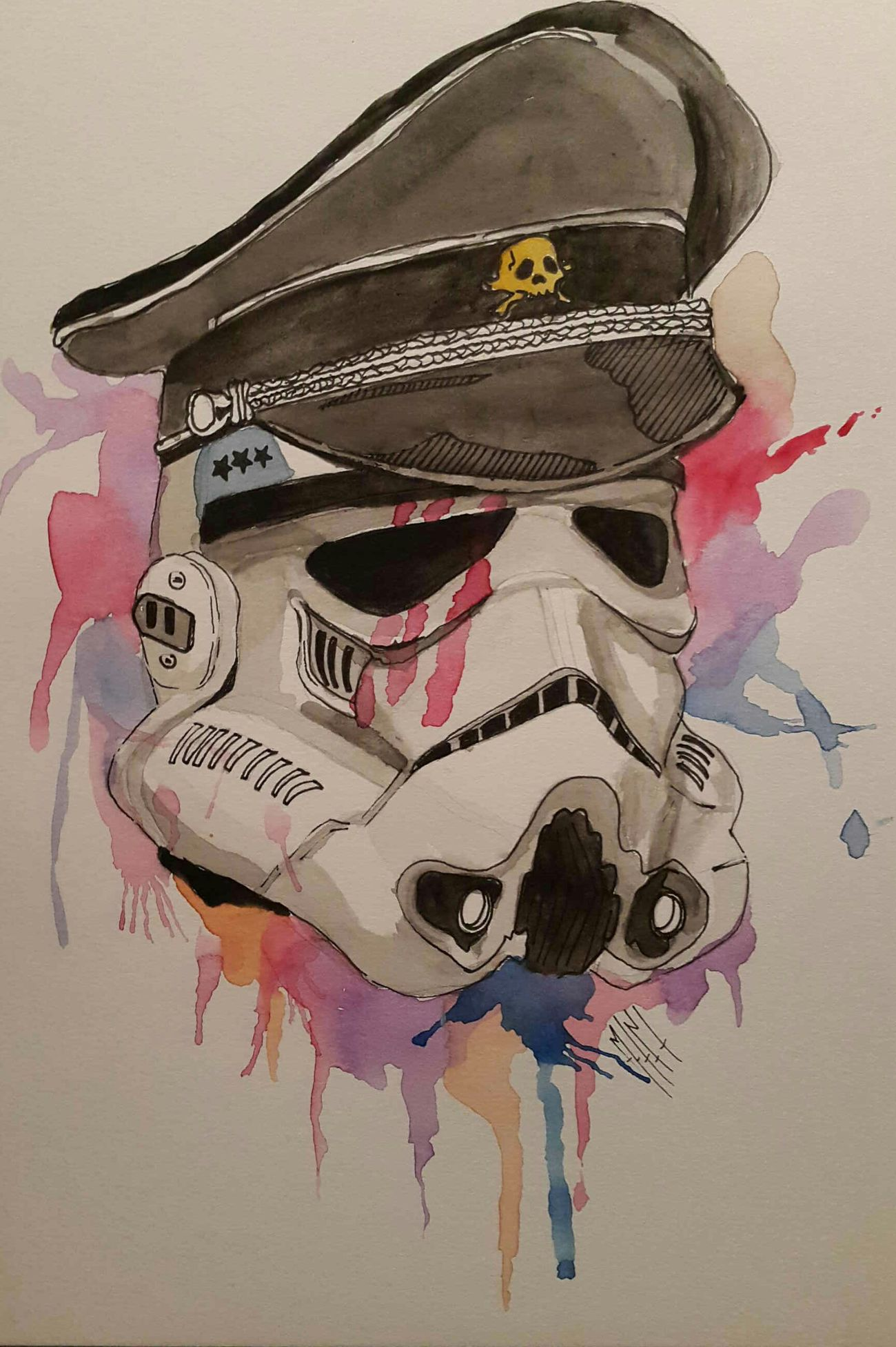 Statwars stormtroopers Starwars Stormtroopers Watercolor Art Illustration My Drawing Relaxing