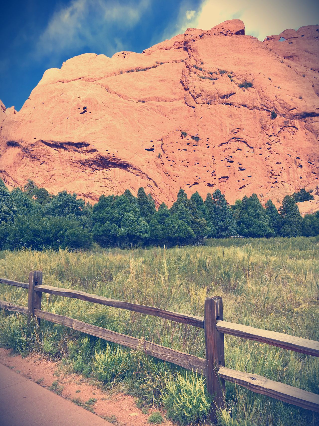 Nature Sky Outdoors Grass Landscape No People Day Beauty In Nature Tranquil Scene Scenics Tranquility Mountain Tree Colorado Colorado Photography Gardenofthegods Colorado Springs
