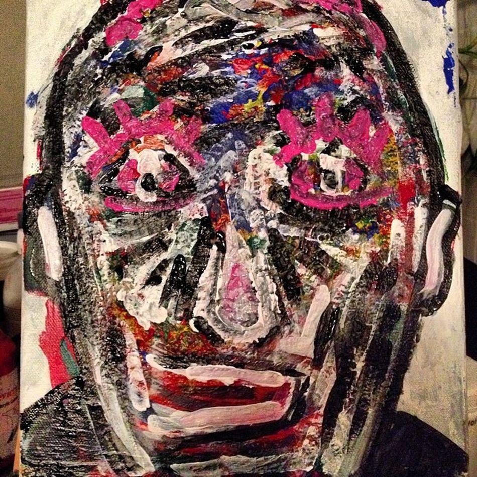 El grotesco sr de los ojos de rosa. Abstrac Art Abstracto Negua acrílico lrpstudio