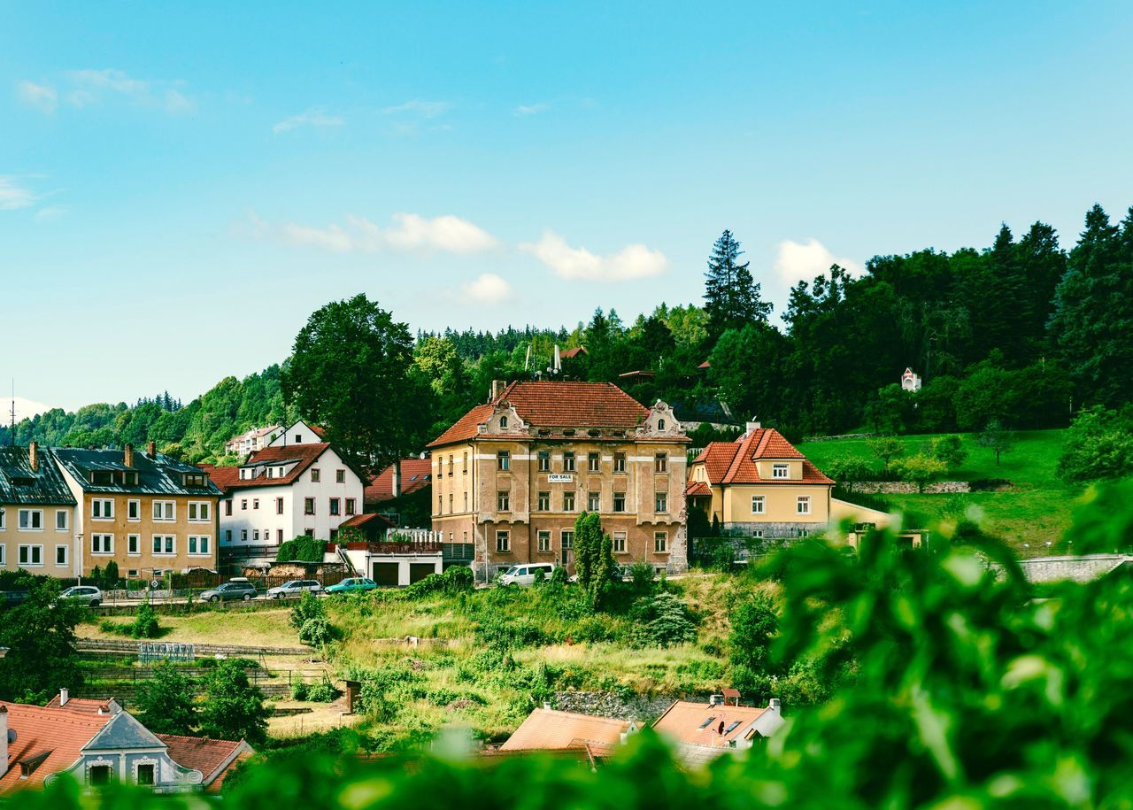 CK old town of Czech My Traveling Photography From My Point Of View My Street Photography Old Town Taking Photos Peace Peace And Quiet Sky Residential  Green Color Beauty In Nature Outdoors Green No People Scenics Mountain Exceptional Photographs Beauty In Nature CK Town