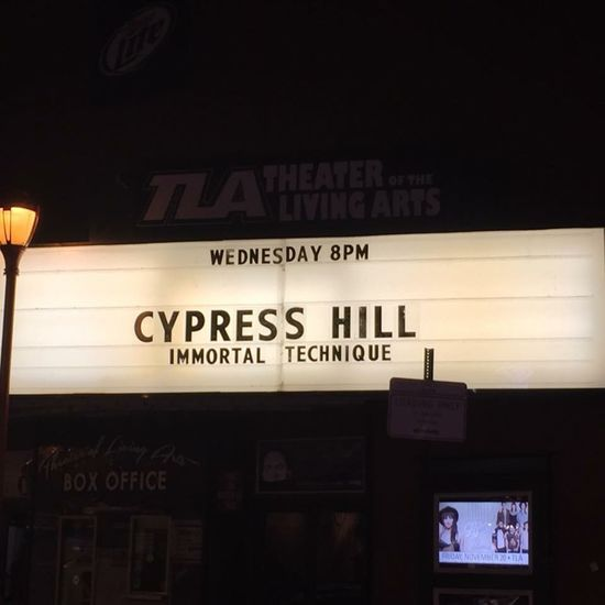 Can't wait to be here tomorrow night for this show!! Cypresshill TLA