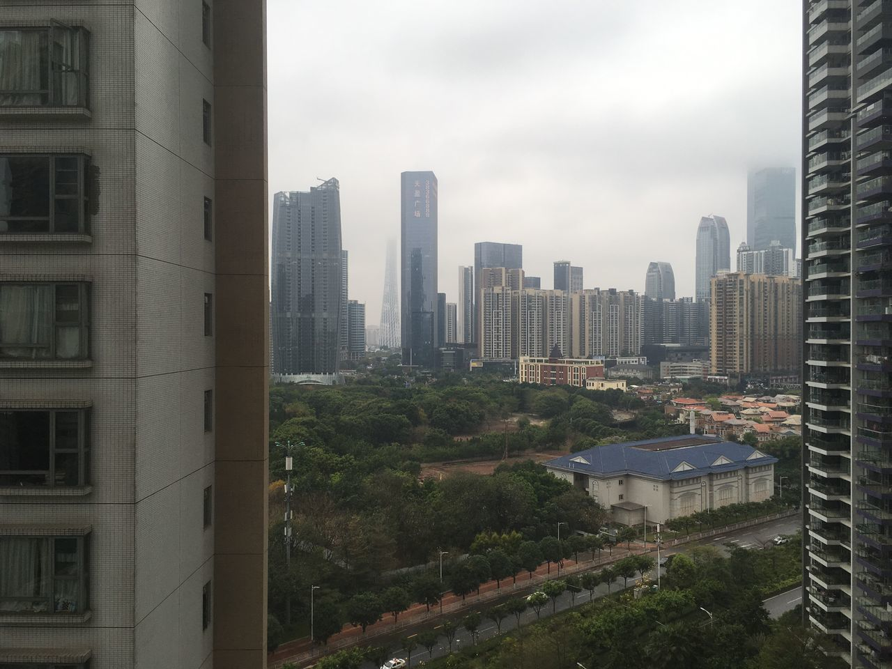 Architecture Building Building Exterior Built Structure City Cityscape Cloud - Sky Day Guangzhou Modern No People Outdoors Sky Skyscraper Tree Urban Skyline