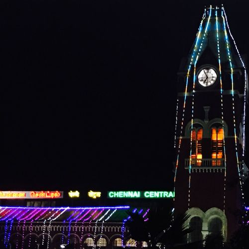 Travel time Architecture Night Low Angle View Decorated With Lights Celebration Travel Moods