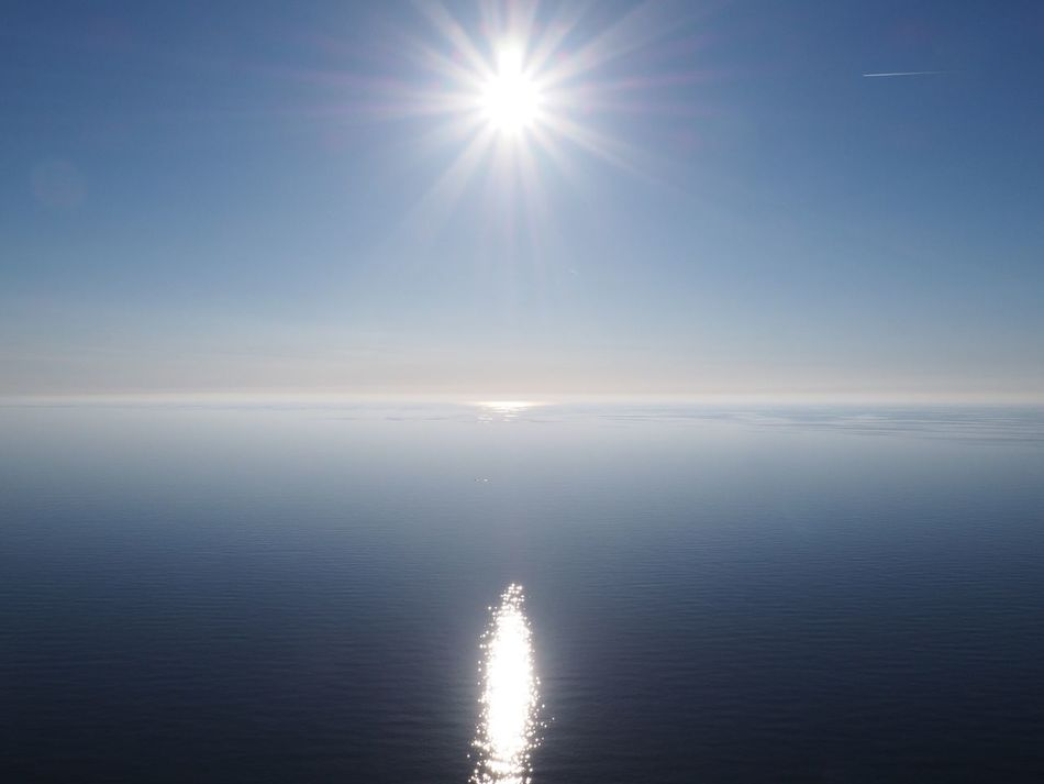 Sun Sea Beauty In Nature Tranquility Sunbeam Reflection Horizon Over Water No People Tranquil Scene Sky Sunset Corsica Cap Corse Corse Holiday Mediterranean  Blue Waterfront