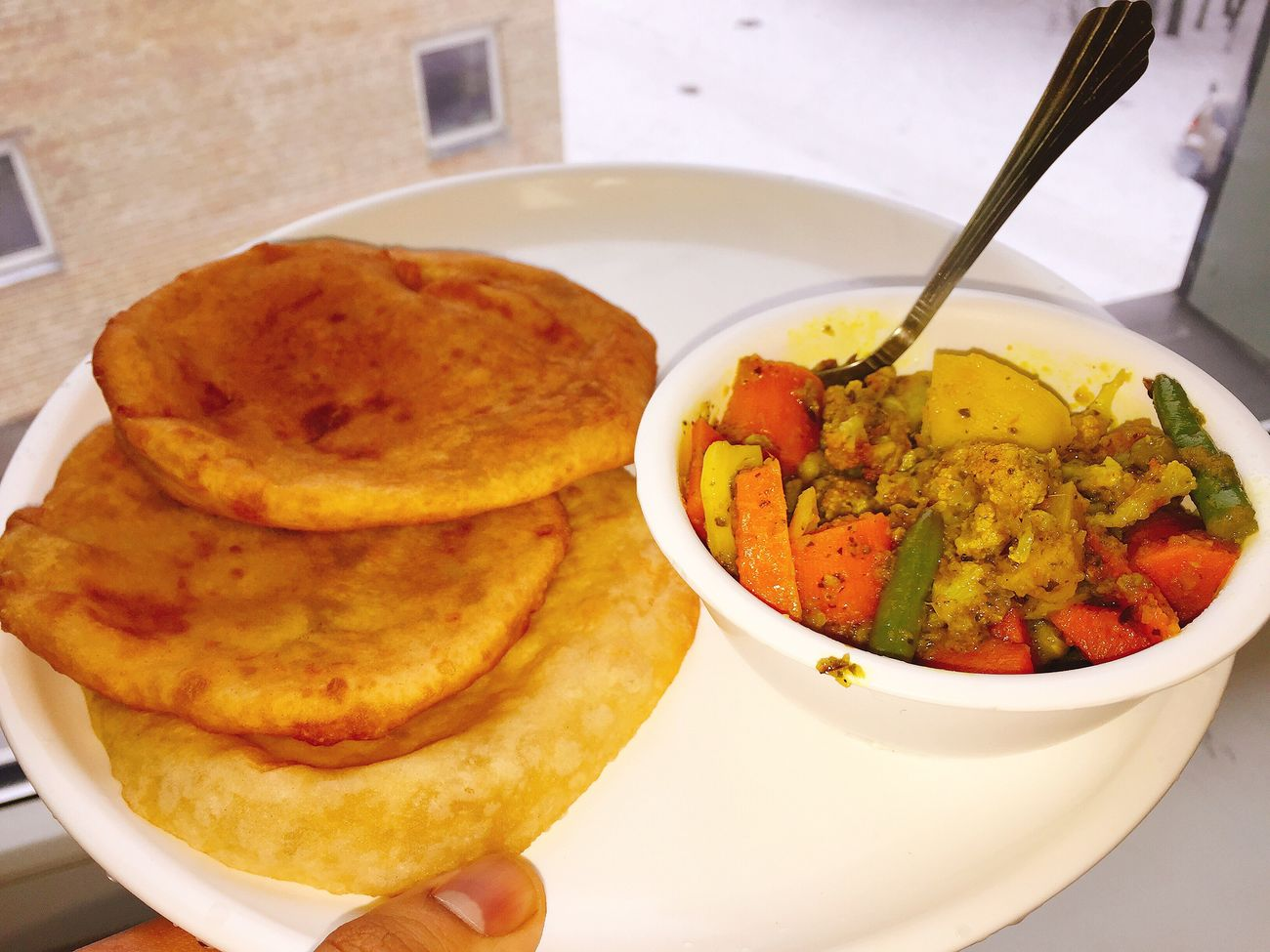Ready-to-eat Plate Indian Food Traditional Yummy Delicious HostelLife Healthy Eating