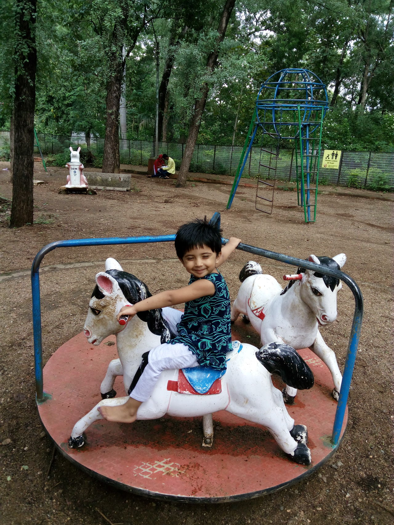 Heyyyy Having Fun In Park Little Girl Little Happyness Cute Girl Horse Riding Old Days Cute Smile  Best Of EyeEm Week On Eyeem EyeEm Best Shots EyeEm Gallery EyeEm Street Photography But Still A Lot To See In Nagpur,India People And Places