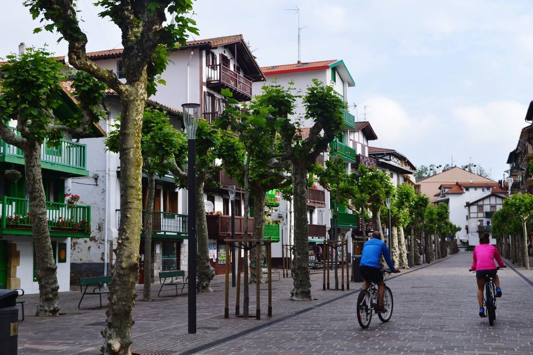 Hondarribia Basque Country Transportation Bicycle Architecture Mode Of Transport Built Structure Land Vehicle Riding Building Exterior Travel Lifestyles Leisure Activity Full Length Cycling On The Move Residential Building Men City Life City Residential Structure Person